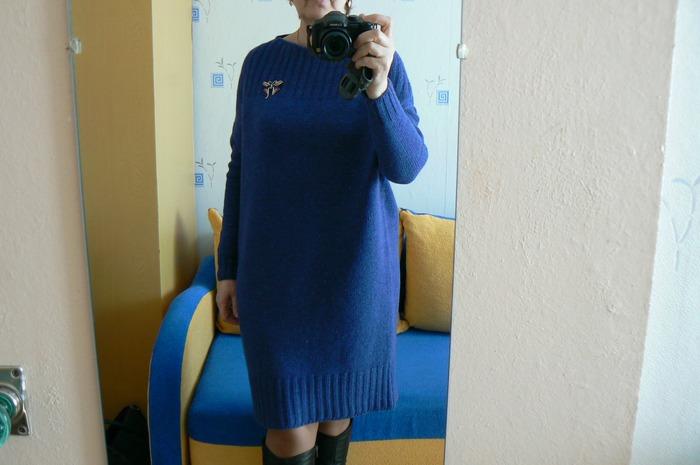 Фото. Платье-кокон. Твид Nelson в 2 нитки и 1 нить кешвула в тон. Автор работы - Natal ka