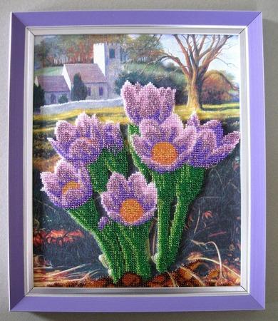 """Фото. """"Весна в Провансе"""" (по набору Абрис Арт) - вышивка бисером по холсту с рисунком.  Автор работы - Simfony"""