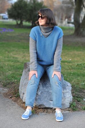 Фото. Двойка из однотипной пряжи свитер+жилет. Автор работы - Virina1