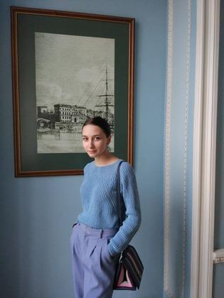 Фото. Пуловер для дочери.  Автор работы - Topekha