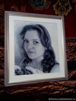 Фото. Портрет в подарок на 20-летие  Автор работы - Нектарина