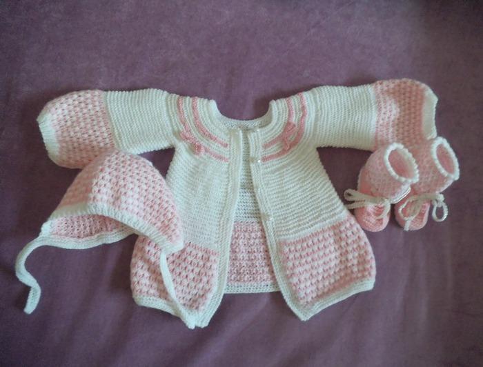 Фото. Комплект на рождение внученьки. Автор работы - Панк
