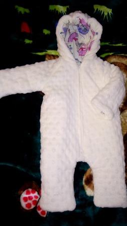 Фото. Тёплый комбезик. Минки-плюш, хлопок и утеплитель альпоюкс 100.  Автор работы - мамаЛюбашка