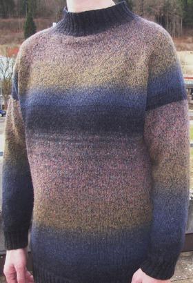 Фото. Мужской свитер из дундаги 6/1 и стокового мериноса.  Автор работы - Тьюлип