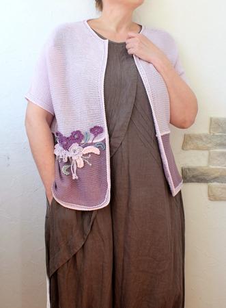 Фото. Для больших девочек  - машинное вязание плюс декор.  Автор работы - innasun