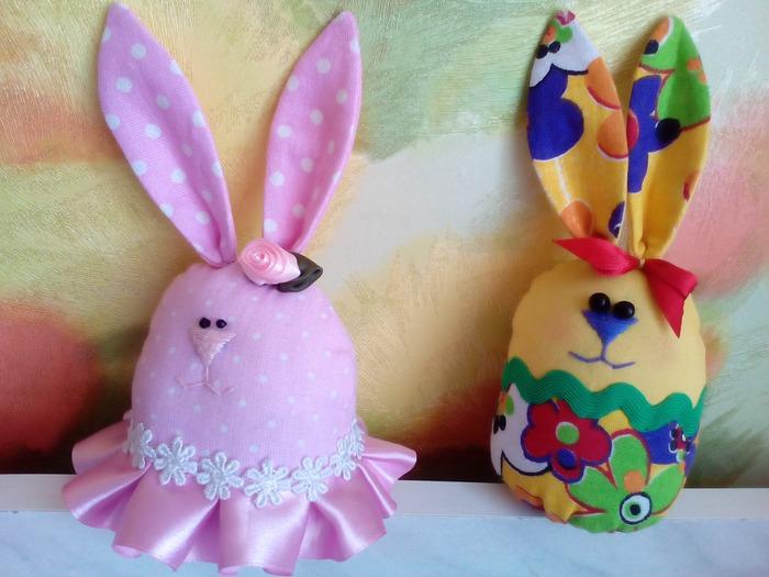 Фото. Милые пасхальные зайчики для внучки Алисы.