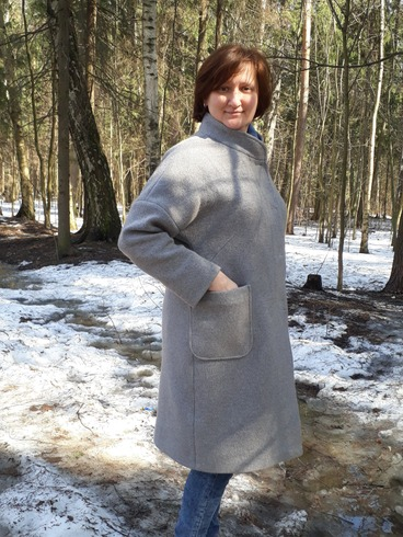 Фото. Дошила пальто и успела выгулять. Думала один раз одену и все - весна. Не тут то было.