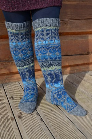 Фото. Ну кто не знает знаменитые латышские носки? Гольфы для подруги. Пряжа Rellana Garne Flotte Socke 6 fach, спицы номер 2,5.