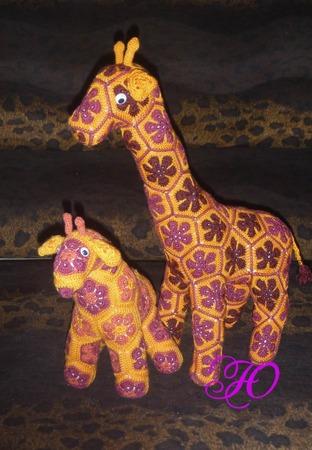 Фото. Прибавление в Сафари-парке: пара жирафов.  Автор работы - Corviny