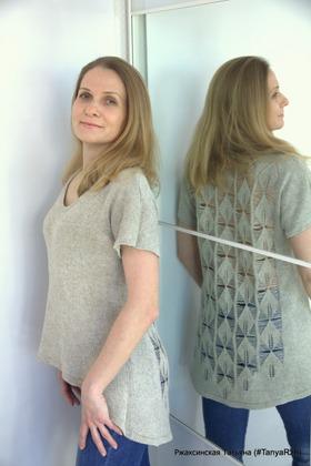 """Фото. Летняя футболка с ажурной спинкой """"Листик"""".  Автор работы - Танечка45"""