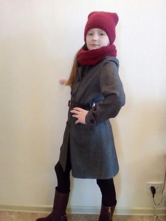 Фото. Результат: модное пальто для дочери!   Автор работы - Ejeniya