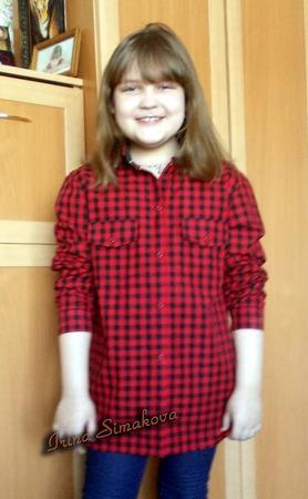 Фото. Рубашка для дочки. Автор работы - мамочкаИрочка