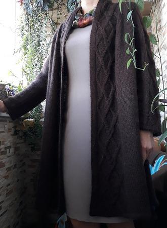 Фото. Пальто коричневое. Пехорка, Перуанская альпака. Автор работы - InTsvetkova