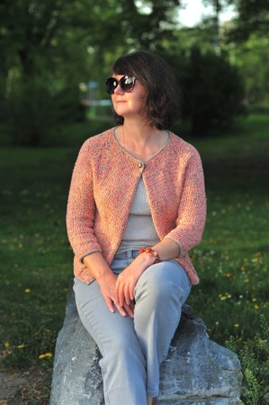 Фото. Жакет из смеси разной пряжи.  Автор работы - Virina1