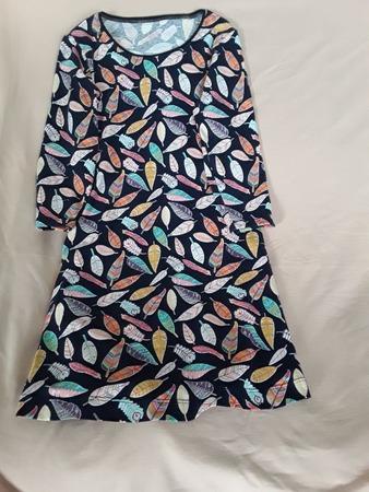 Фото. Домашнее платье-футболка из х/б кулирки с пёрышками. Автор работы - Olga-Sh
