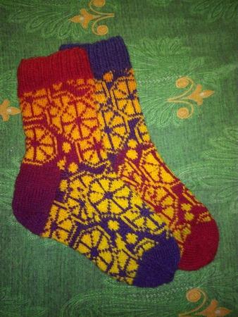 Фото. Citrus Socks by Aud Bergo.   Автор работы - НатТусся