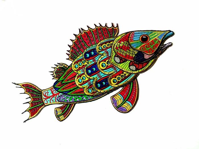 Фото. Вышилась рыба 3D. Автор работы - RolikOFF