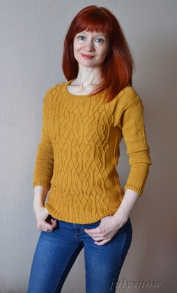 Фото. Пуловер Aviara от Ирины Аникеевой.  Автор работы - july snow