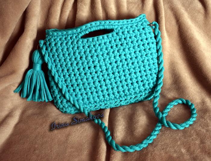 Фото. Вязаная сумочка на лето. Автор работы - мамочкаИрочка