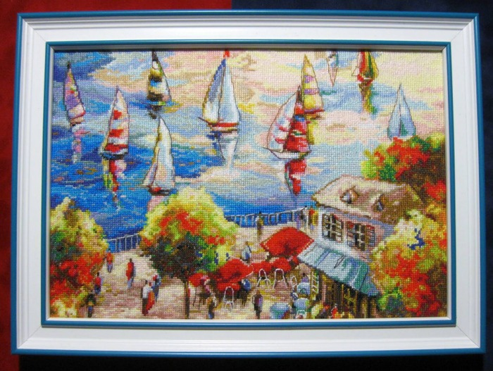 """Фото. Картина """"Кафе у озера"""".  Автор работы - Simfony"""