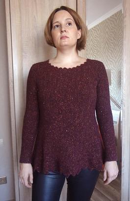 """Фото. Пуловер """"Зубчики"""", машинное вязание.  Автор работы - li_bog"""