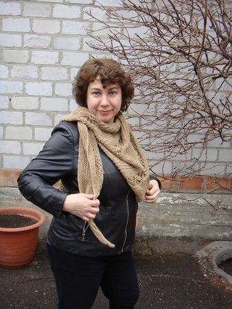 Фото. Бактус-косынка по мк. Светланы Коломиец.  Автор работы - Tanykola
