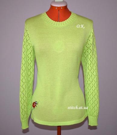 Фото. Летний пуловер из 100% хлопка. Машинное вязание. Автор работы - Radana