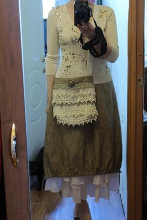 Фото. Бохо-юбка из отреза шелка + нижняя юбка и бохо-сумочка. Автор работы - terciya