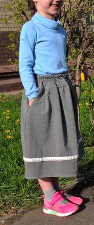 Фото. Юбка из хлопкового футера-двухнитки и водолазка. Автор работы - Осень-осень