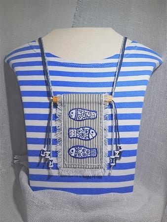 Льняные украшения c ручной вышивкой