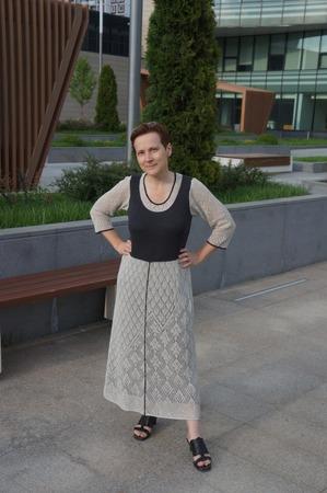 Фото. Ажурное платье - машинное вязание.  Автор работы - Svero
