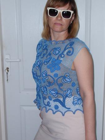 """Фото. Блузка """"Тюльпан"""", ирландское кружево. Автор работы - agnimila"""