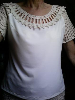 """Фото. Вариант блузы из темы """"Шелковая поэма Ванессы Монторо"""".   Автор работы - LusiyIv"""