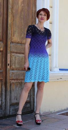 Фото. Платье-градиент.   Автор работы - O -Ksana