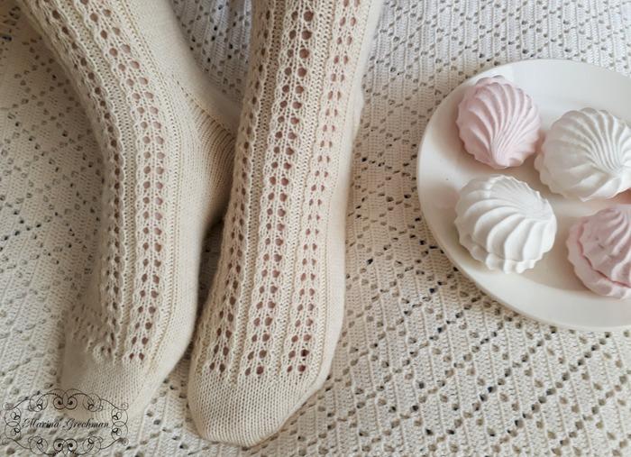 """Фото. Носочки """"Helen"""".  Автор работы - Яблоневый цвет"""