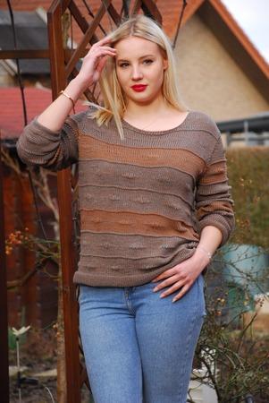"""Фото. Пуловер на каждый день из хлопковой, ленточной пряжи от Лана Гросса """"Roma"""".   Автор работы - Трудовик"""