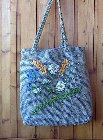 Фото. Летняя сумочка из льна. Автор работы - Nikita 13