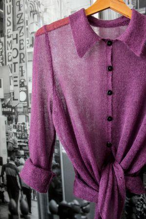 Фото. Рубашка из кидмохера.  Автор работы - зорина