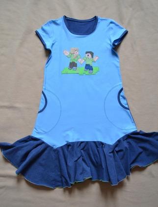 Фото. Трикотажное платье для Маши.  Автор работы - ЮлияБ