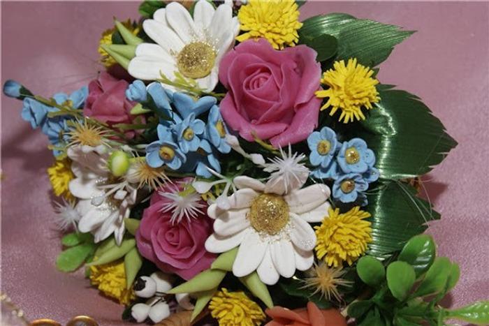 Фото. Цветочная корзинка.  Автор работы - Лёлик - Алёнка