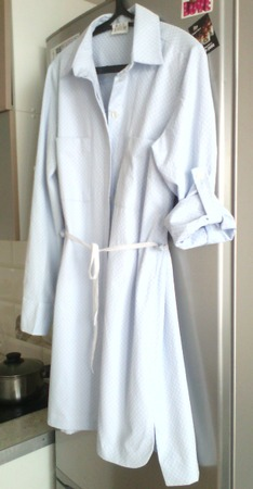 Фото. Платье-рубашка из хлопкового жаккарда младшей доче.  Автор работы - Aleninka