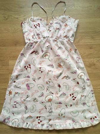 Фото. Шилась ночнушка, получилось домашнее платье.  Автор работы - 9.days