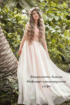 Фото. Нежное платье.  Автор работы - Алесенок_007