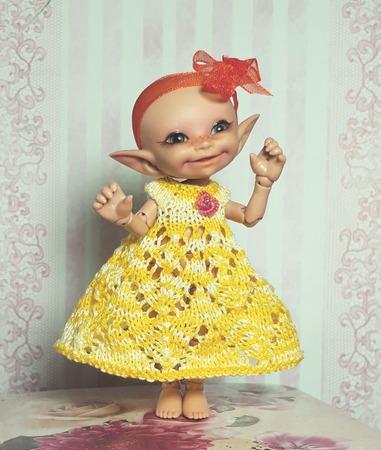 Фото. Иногда сама кукла подсказывает образ будущего наряда.   Автор работы - Evento