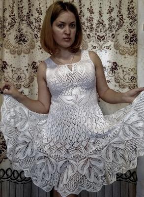 Фото. Белый сарафан.  Автор работы - Пупининья