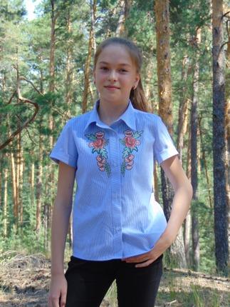 Фото. Рубашка для дочки.   Автор работы - Салампи