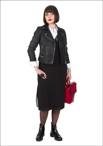 Комплект №4 . Куртка – Marks & Spencer. Платье, рюкзак и ботинки – Zara. Блуза – Mango
