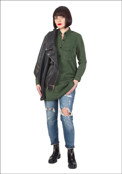 Комплект №5 . Куртка, блуза, джинсы и ботинки – Zara
