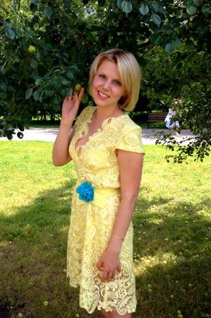 Фото. Платье из гипюра (шилось на свадьбу одногруппницы. Был дресс-код для всех).