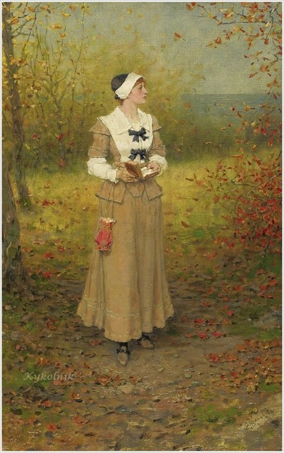 "Фото. George Henry Boughton (English-born American, 1833 - 1905) ""Autumn""."